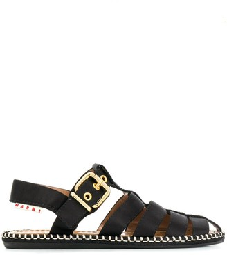 Marni satin espadrille sandals
