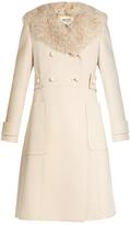 Miu Miu Double-breasted wool and sheepskin coat