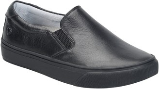 Nurse Mates Leather Slip On Sneakers - Faxon