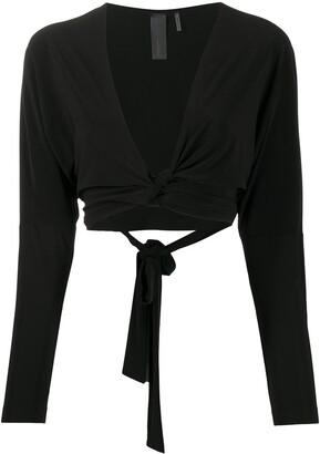 Norma Kamali Dolman Wrap blouse