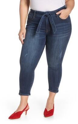 Seven7 Hollywood Mid Rise Skinny Ankle Jeans