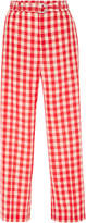 RED Valentino Gingham Print Trousers