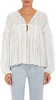 Ulla Johnson Women's Fabienne Micro-Floral Cotton Blouse
