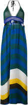 Fendi halterneck maxi dress - women - Silk/Spandex/Elastane/Viscose - 44