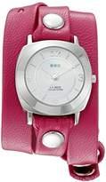 La Mer Women's 'La Mer Collections Women's Tulip Pink Silver Odyssey Wrap Watch' Quartz Pink Leather Casual Watch (Model: LMODY3002)
