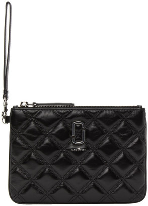 Marc Jacobs Black The Quilted Softshot Wristlet Pouch