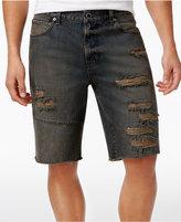 Lrg Men's Stroker Cutoff Destroyed Denim Cotton Shorts