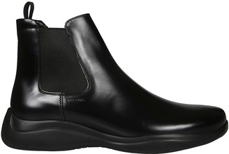 Prada Brushed Ankle Boots