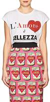 "Dolce & Gabbana Women's ""L'Amore È Bellezza"" Cotton Oversized T-Shirt"