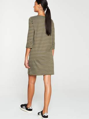 Very The Essential Three Quarter Sleeve Dress - Stripe