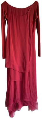 Donna Karan Burgundy Silk Dresses