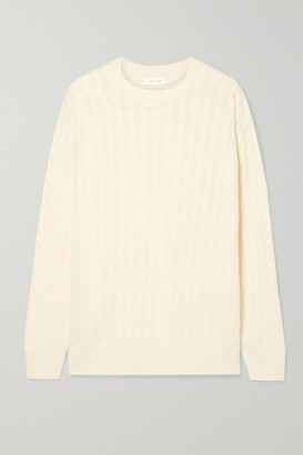 The Row Minorj Cable-knit Cashmere And Silk-blend Sweater - Cream