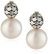 "Honora Times Square"" White Freshwater Cultured Pearl Drop Earrings"