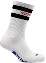 Vetements Cotton-blend Socks - White