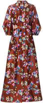 DELPOZO floral print gown