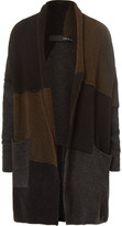 Isabel Benenato - Colour-Block Panelled Merino Wool-Blend Cardigan