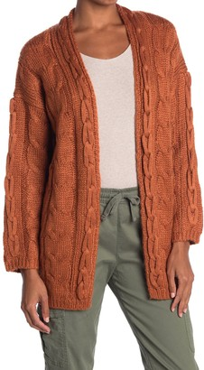 Heartloom Relaxed Fit Cable Knit Cardigan