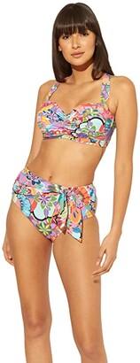 Bleu Rod Beattie Make It Pop Shirred Bandeau Underwire D-Cup Top (Multicolored) Women's Swimwear
