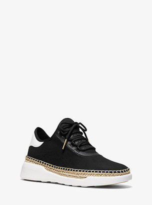 MICHAEL Michael Kors Finch Canvas And Leather Lace-Up Sneaker