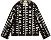 "Gucci ""Blind for Love"" jacquard wool coat"