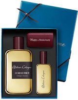 Atelier Cologne Gold Leather Cologne Absolue, 200 mL with Personalized Travel Spray, 30 mL