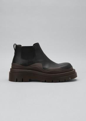 Bottega Veneta Storm 10mm Lugged Low-Top Ankle Boots