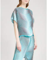 Issey Miyake Flow striped pleated top