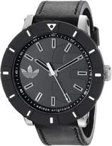 adidas Men's ADH2998 Amsterdam Stainless Steel Watch with Black Leather Band