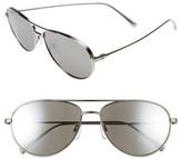 Ermenegildo Zegna Men's 59Mm Aviator Sunglasses - Titanium/ Grey Silver Flash