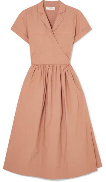 Sea Calah Cotton-poplin Wrap Dress - Blush