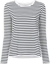 Majestic Filatures striped jersey top