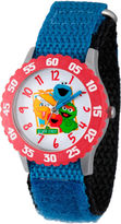 Sesame Street Boys Blue And Red Friends Time Teacher Strap Watch W003181