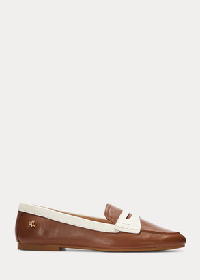 Ralph Lauren Adison Two-Tone Nappa Leather Loafer