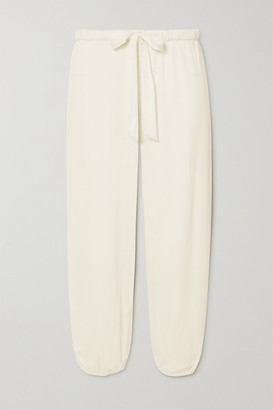 Eberjey Winter Heather Cropped Stretch-modal Pants - Off-white
