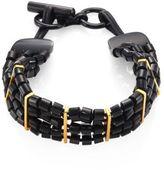 Nest Black Horn & Leather Choker