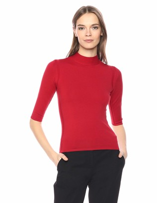 Theory Women's Half Sleeve Fitted Turtleneck Shell