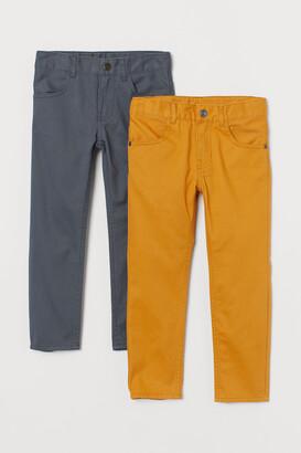 H&M 2-pack Slim Fit Twill Pants