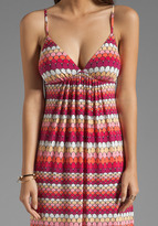 Susana Monaco Striped Scale Print String Maxi Dress