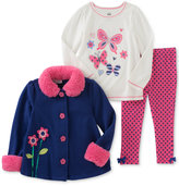 Kids Headquarters 3-Pc. Flower Jacket, T-Shirt & Leggings Set, Baby Girls (0-24 months)