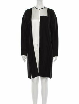 Zero Maria Cornejo Colorblock Pattern Knee-Length Dress Black