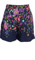 Oscar de la Renta Floral Cloque Shorts