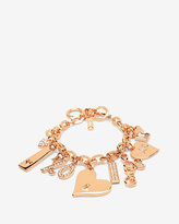 White House Black Market Rose Gold Charm Bracelet