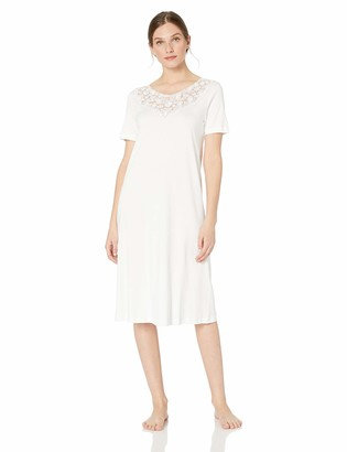 Hanro Women's Aurelia Short Sleeve Gown