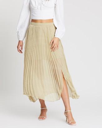 MinkPink London Calling Pleat Skirt