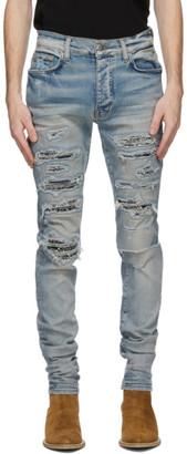 Amiri Blue Bandana Thrash Jeans