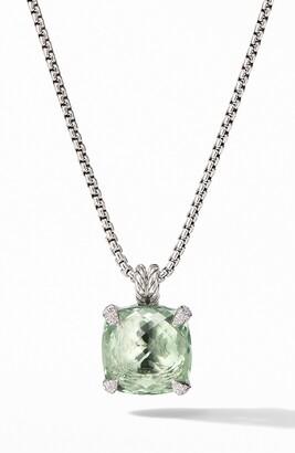 David Yurman Chatelaine Prasiolite Pendant Necklace with Diamonds