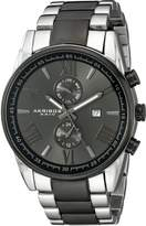 Akribos XXIV Men's AK812TTB Analog Display Swiss Quartz Two Tone Watch