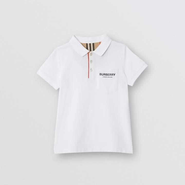 375c51b9c Burberry White Boys' Polos - ShopStyle