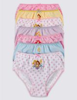 Marks and Spencer 7 Pack Disney PrincessTM Briefs (1-7 Years)
