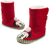 Disney Santa Mickey Mouse Deluxe Slippers for Kids
